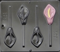 3450 Calla Lily Lollipop Chocolate Candy Mold
