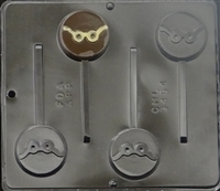3454 Glasses Lollipop Chocolate Candy Mold