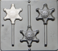 3455 Sheriff Badge Chocolate Candy Mold