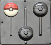 3456 Pokemon Ball Chocolate Candy Mold