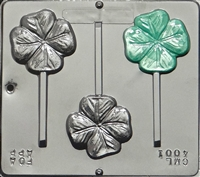 4001 Four Leaf Clover Lollipop Chocolate Candy Mold