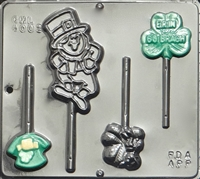 4002 St. Patricks Day Assortment Lollipop Chocolate Candy Mold