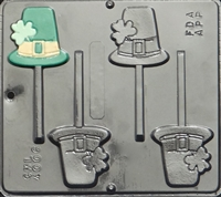 4006 Shamrock Hat Lollipop Chocolate Candy Mold