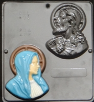 401 Sacred Heart & Mary Religious Chocolate Candy Mold