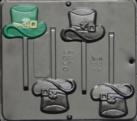 4010 Hat with Shamrock Lollipop Chocolate Candy Mold