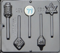 411 Jewish Assortment Lollipop Chocolate Candy Mold