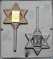 415 Jewish Star Lollipop Chocolate Candy Mold