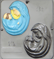 420 Mary with Baby Jesus Chocolate Candy Mold