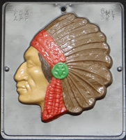 521 Indian Chief Chocolate Candy Mold
