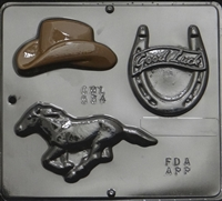 534 Cowboy Assortment Chocolate Candy Mold