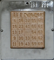 538 Bingo Card Chocolate Candy Mold