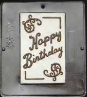 553 Happy Birthday Card Chocolate Candy Mold