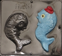 554 Happy Fish Chocolate Candy Mold