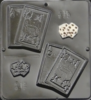 593 Playing Cards & Dice Chocolate Candy Mold