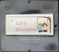 6004  I Love Grandpa Card Chocolate Candy Mold