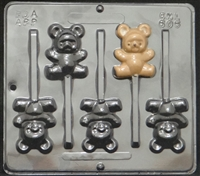 606 Teddy Bear Lollipop Chocolate