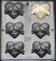 620 Love Birds on Heart Chocolate Candy Mold
