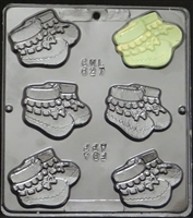 627 Baby Booties Chocolate Candy Mold