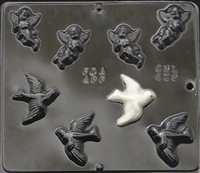 629 Cupid and Birds Chocolate Candy Mold