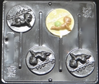 "631 ""Congratulations"" Baby Lollipop Chocolate