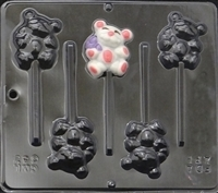 642 Teddy Bear Lollipop Chocolate Candy