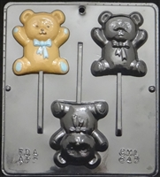 648 Teddy Bear Lollipop Chocolate Candy Mold