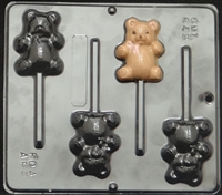 649 Teddy Bear Lollipop Chocolate Candy Mold