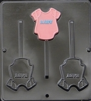 "6601 ""Baby"" Onesie Lollipop Chocolate Candy Mold"