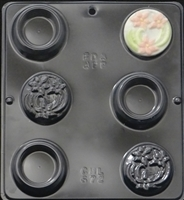 672 Box with Flower Cover Chocolate Candy Mold