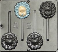 675 Baby Face Lollipop Chocolate Candy Mold