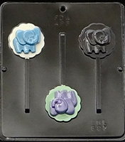 697 Baby Elephant Lollipop Chocolate Candy Mold