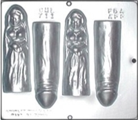 "711 ""Happy Bride on Wedding Night"" Penis Chocolate Candy Mold"