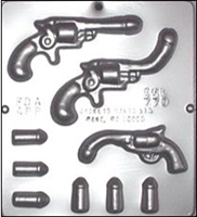 770 Penis Pistol with Penis Bullets Chocolate Candy Mold