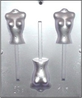 787 Female Topless Torso Lollipop Chocolate Candy Mold
