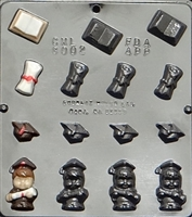 8002 Graduation Assortment Small Chocolate Candy Mold