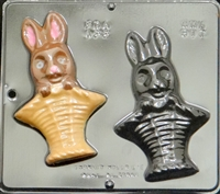 817 Bunny in Basket Chocolate Candy Mold