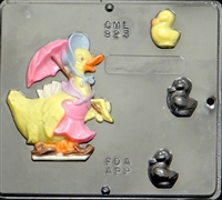 823 Mother Duck & Chicks Chocolate Candy Mold