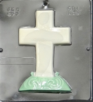 838 Cross on Base Chocolate Candy Mold