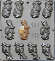 849 Bunny Assortment Chocolate Candy Mold