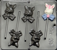 853 Girl Bunny Pop Lollipop Chocolate Candy Mold