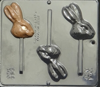 858 Bunny Face Lollipop Chocolate Candy Mold
