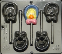 877 Girl Chick with Bonnet Pop Lollipop Chocolate Candy Mold