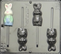 889 Full Body Bunny Pop Lollipop Chocolate Candy Mold