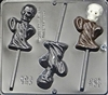 902 Ghost with Skull Lollipop Chocolate Candy Mold