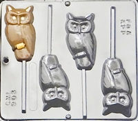 903 Harry Potter Owl Lollipop Chocolate Candy Mold