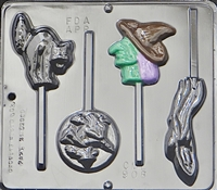 908 Halloween Assortment Lollipop Chocolate Candy Mold