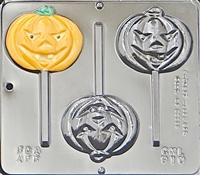 910 Pumpkin Face Lollipop Chcocolate Candy Mold