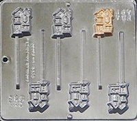 913 Haunted House Lollipop Chocolate Candy Mold