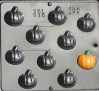 916 Small Pumpkin Chocolate Candy Mold