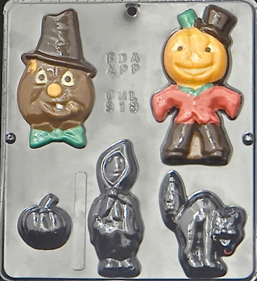 918 Halloween Assortment Chocolate Candy Mold